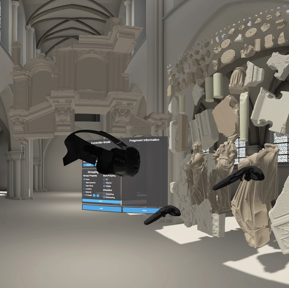 VR System for the Restoration of Broken Cultural Artifacts on the Example of a Funerary Monument